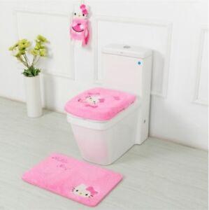 Hello Kitty Badezimmer Sets Zubehor Wc Sitzauflage Badematte Zahnburste Ebay