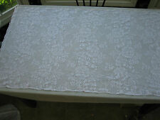 """Vintage White Filet Lace Table Runner / Side Board Cover - 60"""" X 33"""""""