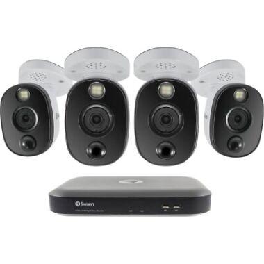 Swann 8-Channel 4-Camera Indoor/Outdoor 4K 2TB DVR Surveillance System