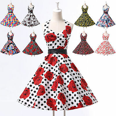 24 Style Vintage Pinup Swing 50S 60S Women Prom Party Housewife Rockabilly Dress