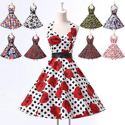 2016 NEW Vintage 50s 60s Swing Jive Dresses Pin up Evening Prom Dress