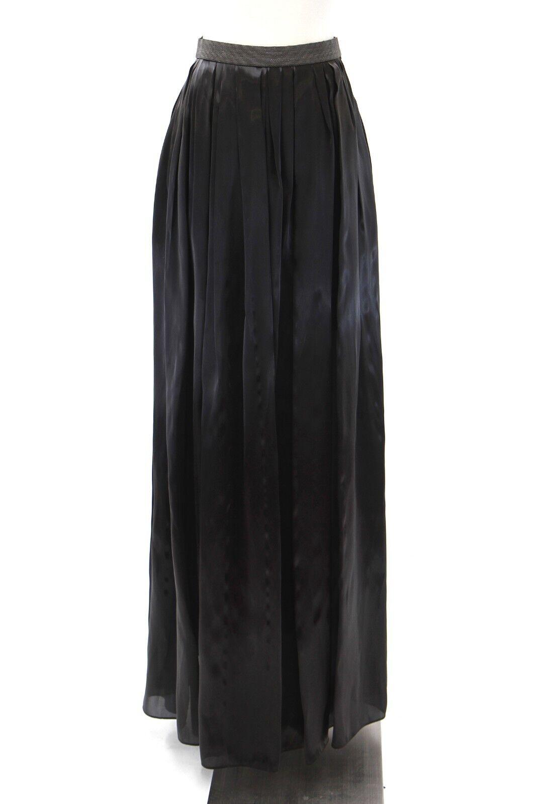 NWT 2345 Brunello Cucinelli Metallic Silk Monili Bead Ball Gown Skirt42 6US A181