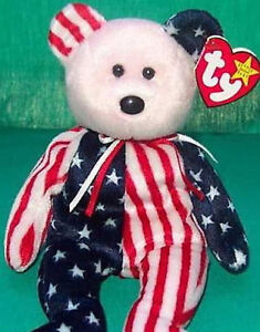 6b31bb97c48 TY Beanie Baby SPANGLE with Pink FACE Teddy Bear MWMT Retired USA ...