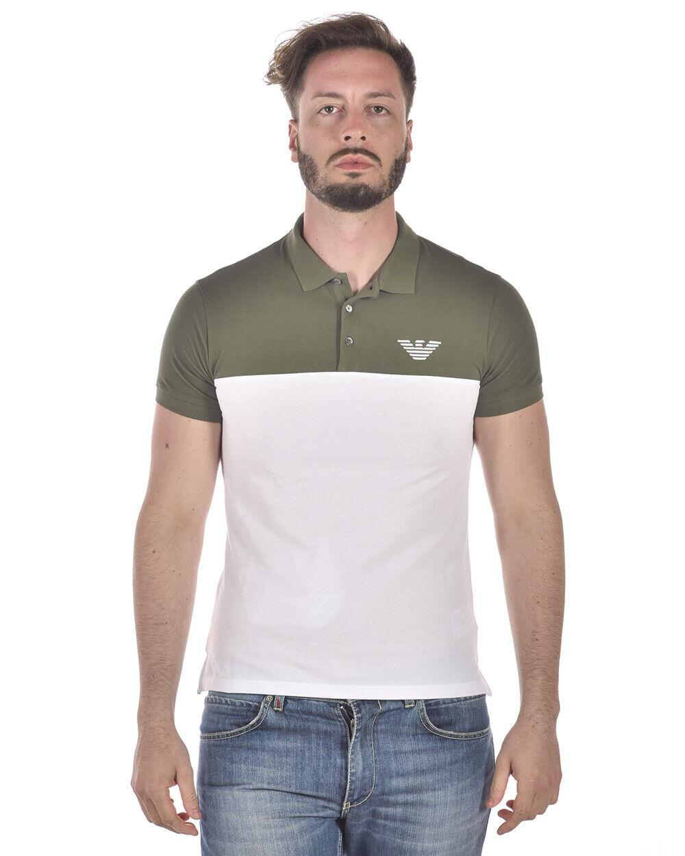 Emporio Armani Polo Shirt Cotton Man Grün 3Z1F701J0SZ 544 Sz S MAKE OFFER