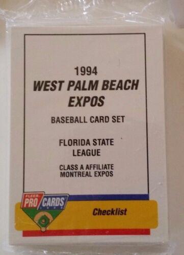 1994 PROCARDS WEST PALM BEACH EXPOS MINOR LEAGUE COMP TEAM SET NEAR MINT TO MINT