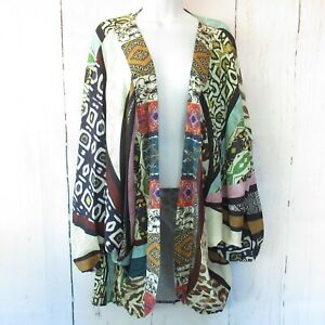 New-Umgee-Kimono-Cardigan-XL-XXL-Mixed-Animal-Tribal-Print-Boho-Plus-Size