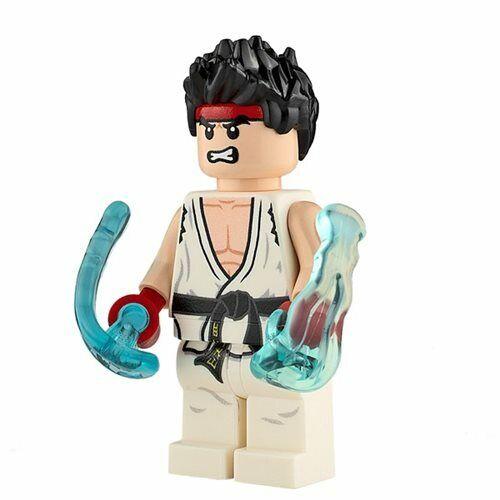 Genuine Lego Custom Printed RYU Lego Minifigure Street Fighter NEW