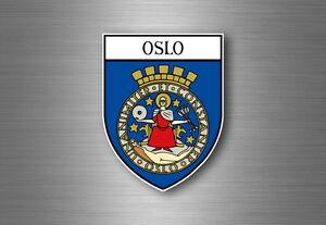 Autocollant sticker voiture moto blason ville drapeau ecusson oslo norvege - France - État : Neuf: Objet neuf et intact, n'ayant jamais servi, non ouvert, vendu dans son emballage d'origine (lorsqu'il y en a un). L'emballage doit tre le mme que celui de l'objet vendu en magasin, sauf si l'objet a été emballé par le fabricant d - France