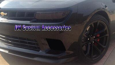 14-15 Camaro SS GTS Smoke Acrylic Headlight Fog Driving Light Covers 4pc Set NEW