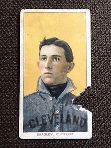 1910 T206 Bill Bradley Portrait Sweet Caporal Cleveland Naps Nice Color! Poor