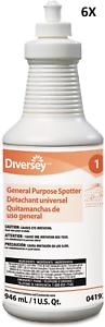 Diversey-General-Purpose-Spotter-Floral-Scent-Liquid-1-Qt-LOT-OF-6-NEW