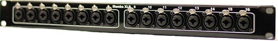Mamba 16 Combo (XLR TRS TS) bis 16 Combo (XLR TRS TS) 1RU XLR bis XLR Patch Bay