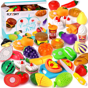 Play Food Toys For Kids Kitchen Pretend Cutting Fruits Cake Set Educational Toy 711182003818 Ebay