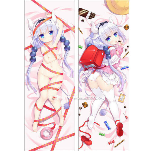 Miss Kobayashi/'s Dragon Maid Anime Girl Dakimakura Kanna Body Pillow Case Cover