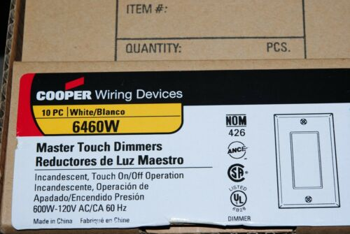 Electrical Equipment & Supplies 1pcs-COOPER 6460W Master Touch ...