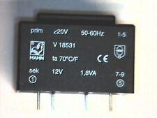 Printtrafo prim. 220V sek 12V 1,8VA Hahn Transformer Transformator Trafo