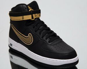 size 40 35ccf 90c86 Nike Air Force 1 High '07 LV8 Sport Men's Lifestyle Shoes Black Gold ...