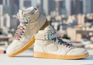 bf86eb1230d3 New Nike Air Jordan 1 Retro Hi Strap N7 Size 8.5 Light Cream Shoes ...