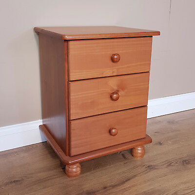 Richmond Pine 3 Drawer Bedside by Mercers Furniture