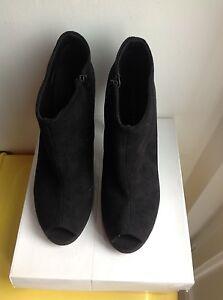 Scarpe-stivali-stivale-stivaletto-stivaletti-camoscio-39-nero-black-no-zara-liu