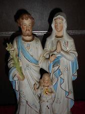 ANCIENNE STATUE RELIGIEUSE/SAINTE FAMILLE  /BISCUIT D'ANDENNE/DEBUT XXé/H.31cm