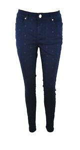 60eb8de94db Image is loading TED-BAKER-DAHLENE-STAR-EMBROIDERED-NAVY-BLUE-STRETCH-
