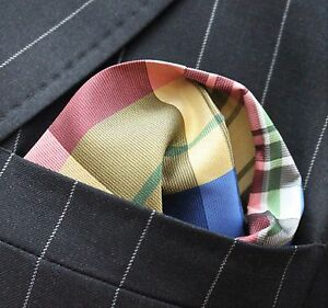 99aff9d64bce Image is loading Hankie-Pocket-Square-Handkerchief-Yellow-Blue-Green-Pink-
