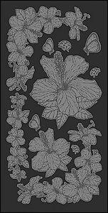 Mitchell Rub-On Glass Etch Transferbogen 11,7 x 23 cm Optik wie sandgestrahlt