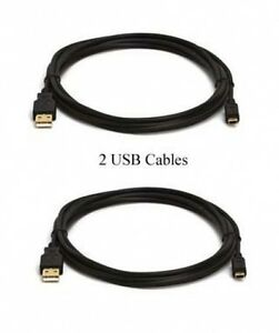 TWO-USB-CABLES-for-Canon-GL2-OPTURA-10-20-30-40-50-60-200MC-A700-A710-IS-A1000IS