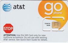 AT&T SIM CARD FOR USE ON GO PHONE PREPAID PLAN. SKU 72287 ATT SIM