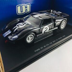 Ford Gt 40 # 2 1966, premières 24 heures du Mans Universal Hobbies 1/18 avec boîte