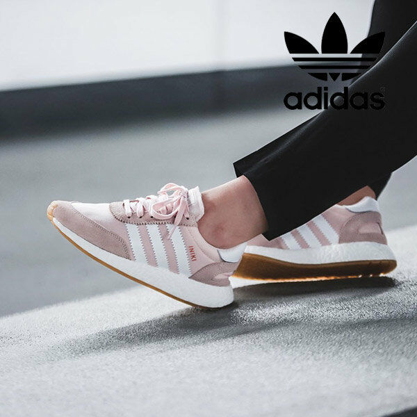 adidas Originals Iniki Runner Pink White GUM Women Sz 7.5 Sneakers Shoes BY9094