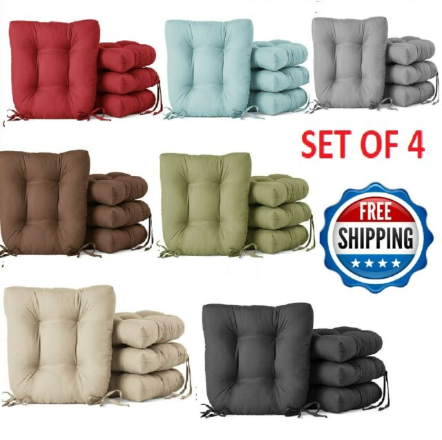 Chair Cushion Set Pad Seat Patio Outdoor Garden Dining Furniture Yard Of 4