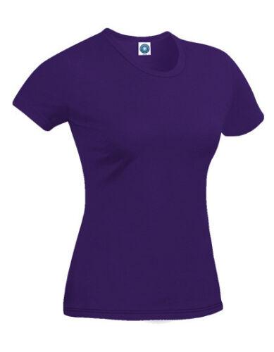Starworld Damen T-Shirt LADIES` RETAIL T-SHIRT Bio-Baumwolle Kurzarm Neu SWGL2