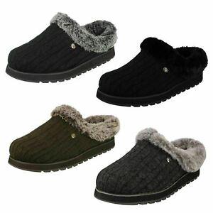 Ladies skechers Memory Foam Slip On Mule Slippers Ice Angel 31204