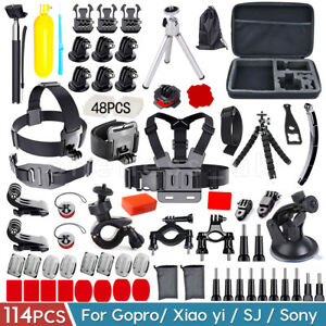 114-In-1 Action Camera Accessories Kit For GoPro Hero Video Cam Mount Tripod Set 603977605508
