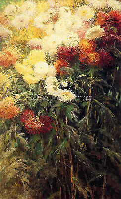 Caillebotte Gustave Chrysanmums Garden Petit Gennevilliers Artist Painting Canva Reliable Performance Art