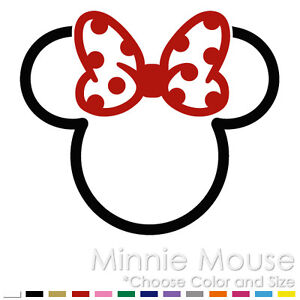 Minnie Mickey Mouse Tribal Two Color Tattoo Disney Vinyl Decal
