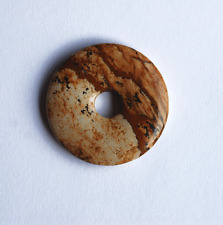 Jaspis Bilderjaspis  wunderschöner Donut brauntöne 35 mm 1 Stück Bacatus