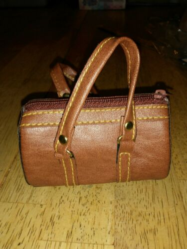 "Handbag For 18/"" Doll Brown Leather"