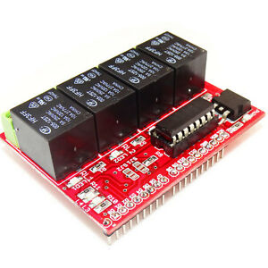 4 Channel Relay Board Bluetooth module Compatible for Arduino IC