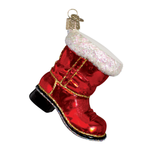 034-Santa-039-s-Boot-034-32060-X-Old-World-Christmas-Glass-Ornament-w-Box