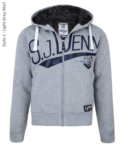 Smith /& Jones New Men/'s Faux Fur Lined Hooded Sweatshirt Warm Fleece Hoodie