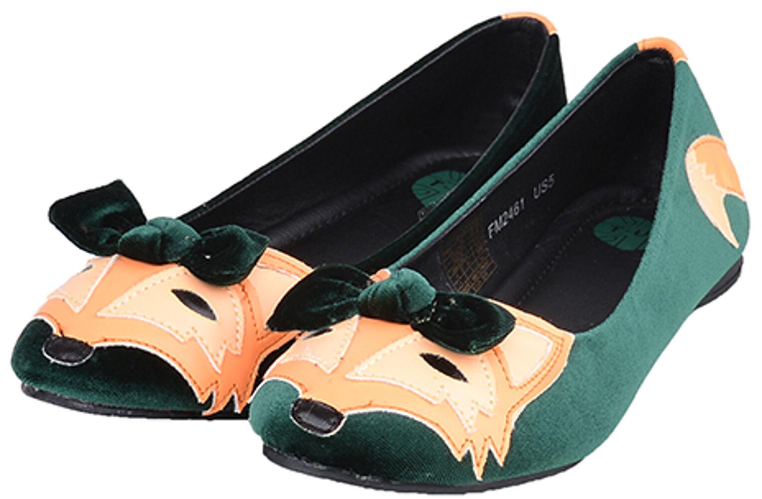 T.U.K. Velvet Fuchs Vintage FOX Fuchs Velvet Flat BALLERINAS Rockabilly 9561a9