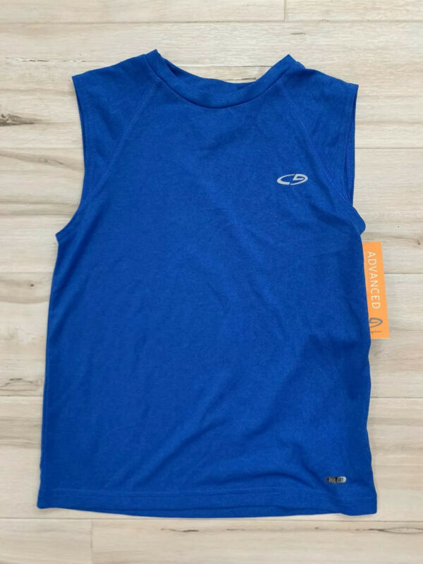 Champion Boys Blue Active Wear Loose Athletic Tank Top Shirt Size Xs 4-5
