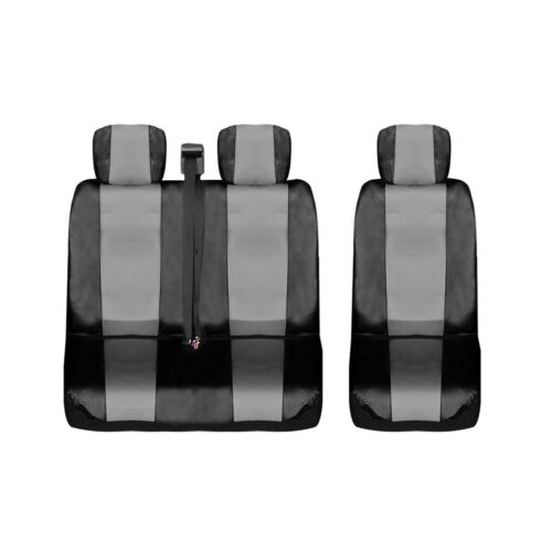 2+1 grigio Ecopelle Coprisedili LUSSO Rivestimenti di alta qualità NUOVO per TOYOTA VW