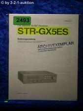 Sony Bedienungsanleitung STR GX5ES FM/AM Receiver (#2493)