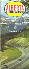 1964 Alberta Province-issued  Vintage Road Map