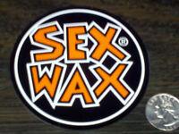 Orange Sex Wax Surf Sticker Mr Zogs Car Decal 3-1/2 Round Board Vinyl 9 Cm