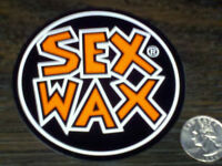 Orange Sex Wax Surf Sticker Mr Zogs Car Decal 3-1/2 Round Board Vinyl 9 Cm